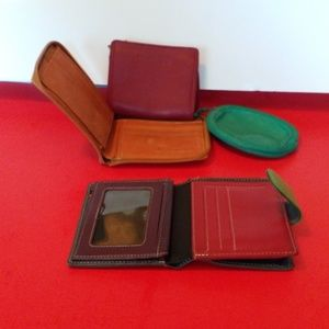 Kenneth Cole lot of four leather wallet.